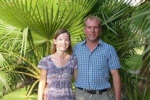 Das junge Farmer-Paar Rachel und Daniel