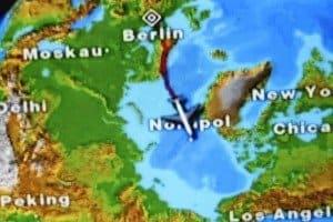 Über dem Nordpol