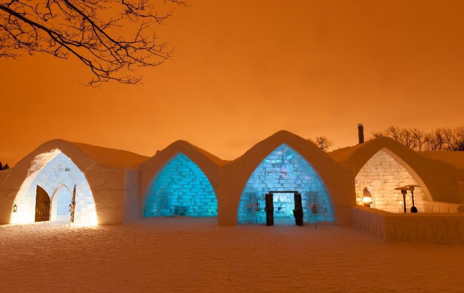 Das Eis-Hotel in Quèbec