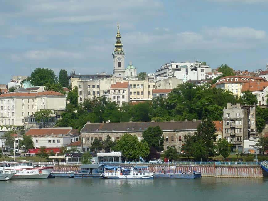 Altstadt Belgrads mit Kathedrale