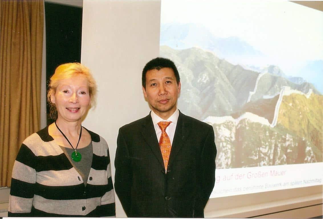 LIU Guosheng, Gründer von China Tours, und Margrit Manz