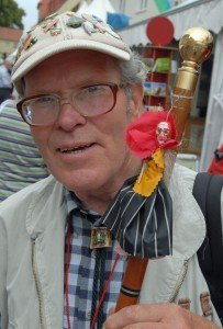 """Benno Schmidt, alias """"Brocken-Benno"""", beim 112. Deutschen Wandertag. Bis heute hat Brocken-Benno den Brocken im Harz 6.696mal bestiegen. Nach seinen Angaben waren das 90.350 Kilometer"""