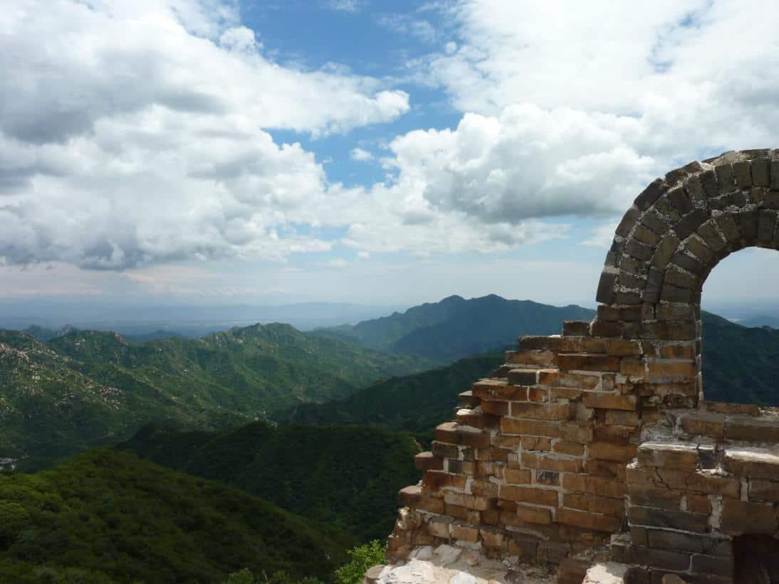 Große Mauer in Mutianyu nördlich von Peking