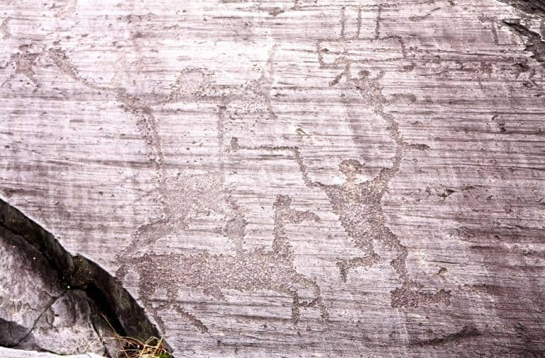 6000 Jahre alte Felszeichnung.