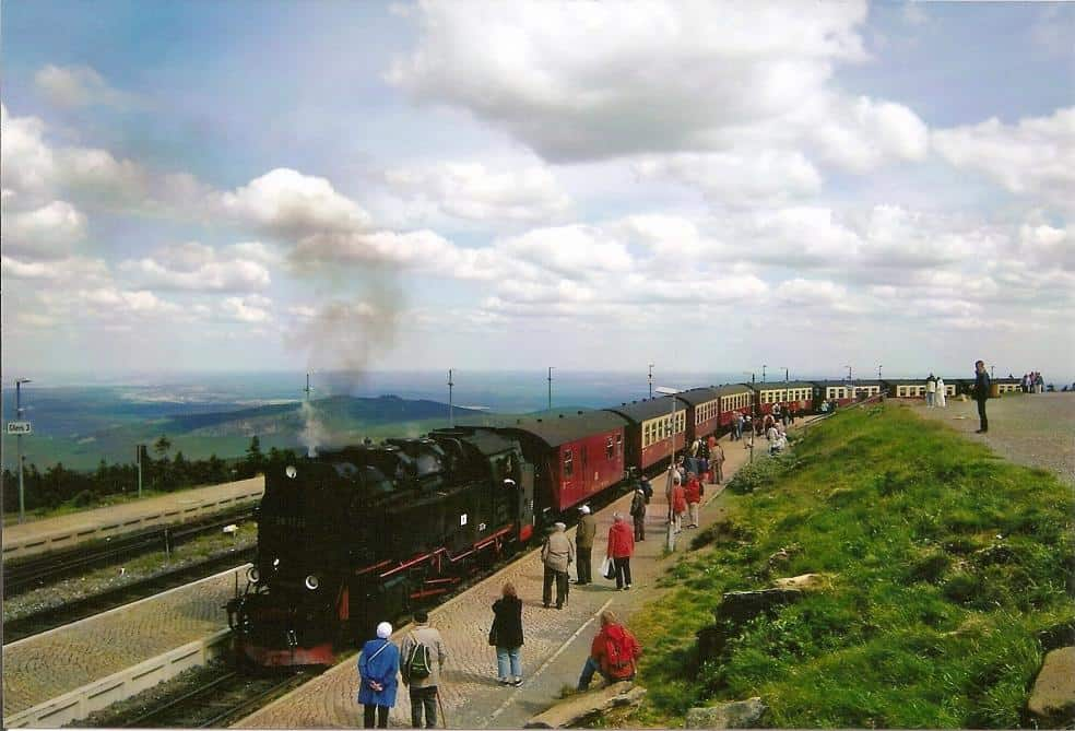 HSB-Dampfzug auf dem Brockengipfel