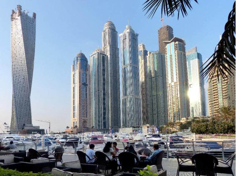 Dubai Marina: Die Skyline von Manhattan diente als Vorbild.