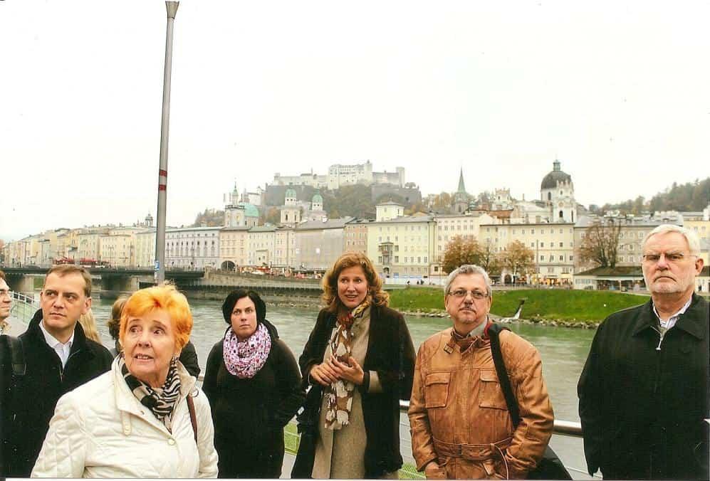 Während eines Stadtrundgangs konnten die Medienvertreter die viertgrößte Stadt Österreichs kennenlernen