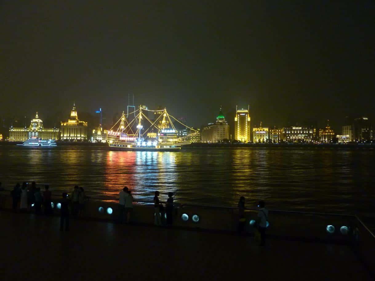 Blick auf den Fluss Huangpu