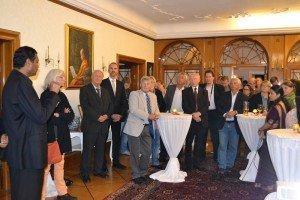 CTOURisten und Gäste während der Präsentation in der Residenz des Botschafters von Sri Lanka Foto: Botschaft Sri Lanka Berlin