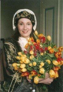 Symbolfigur des in Deutschland einzigartigen Frühlingsfestes ist die historische Keukenhof-Figur Jacoba van Beieren