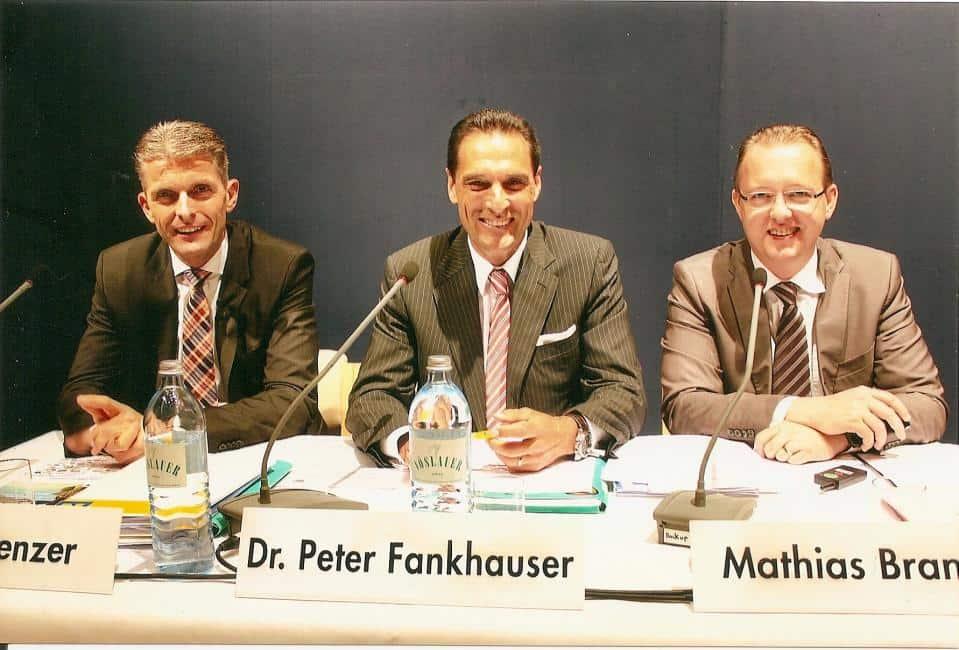 Winterprogramm-Vorstellung in Vorarlberg: Michael Tenzer, Gf Touristik, Dr. Peter Fankhauser, Vorstandsvorsitzender der Thomas Cook AG und Mathias Brandes, Leiter Unternehmenskommunikation (v. l.)
