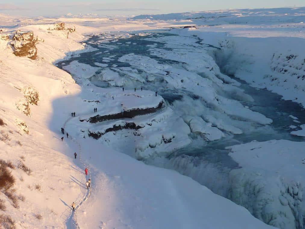 Der schönste Wasserfall Islands Gullfoss