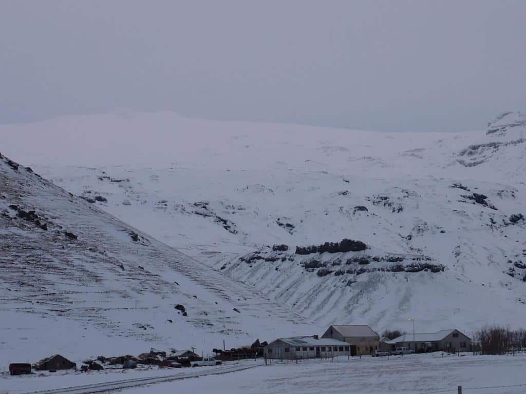 Die Farm am Eyjafjallajökull