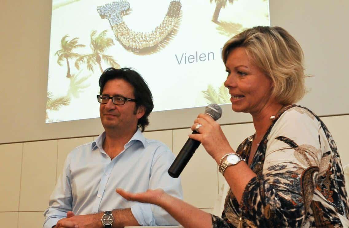Beate Arnold, Leiterin der World of TUI in Berlin und Mario Köpers - unsere Gastgeber beim CTOUR special