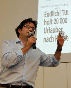 Mario Köpers während seiner Präsentation
