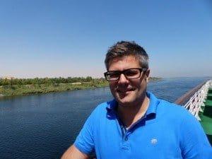 Phönix-Manager Kai Krämer auf dem Nil