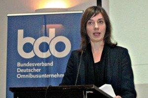 """RA Christiane Leonard, Hauptgeschäftsführerin des bdo, prägte den denkwürdigen Satz """"Der Bus ist Zeitgeist!"""" Foto: M. Weghenkel"""