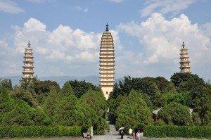Die drei Pagoden des Chongsheng Klosters