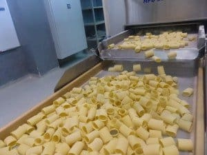 Pasta vom Fließband