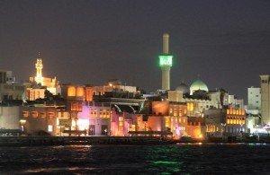 Abendliche Altstadt Dubai
