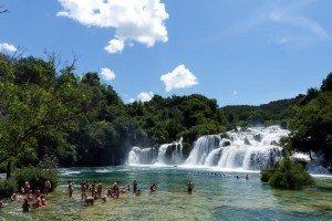 Die berühmten Wasserfälle im Nationalpark Krka Foto: Bernd Siegmund