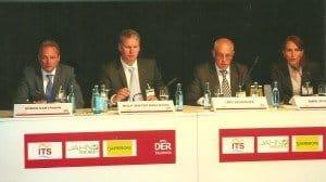 Pressekonferenz im Kurländer-Palais Dresden: Pressesprecherin Anne Schmidt, Bereichsleiter Udo Schröder, Bereichsleiter Rolf-Dieter Maltzahn und CEO Sören Hartmann (v. r.) Foto: Hans-Peter Gaul
