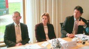 DTV-Präsident Reinhard Meyer, DTV-Hauptgeschäftsführerin Claudia Gilles, Prof. Dr. Mathias Feige (v. r.)