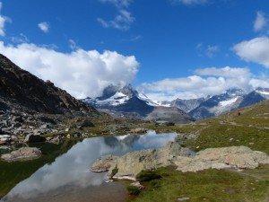 Das Matterhorn spiegelt sich im Riffelsee Foto: R. Keusch