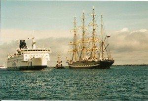 """Hanse Sail Rostock-Warnemünde: ein Fest nicht nur für """"Sehleute"""" Foto: H.-P. Gaul"""
