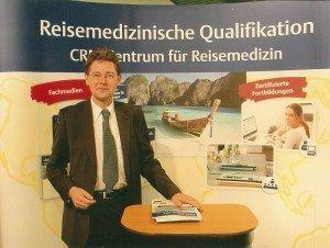 """Beim alljährlichen Forum """"Reisen und Gesundheit"""" im Rahmen der ITB gehört WHO-Experte Dr. Tomas Jelinek zu den wichtigsten Akteuren Foto: Hans-Peter Gaul"""