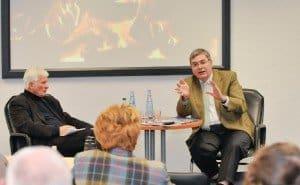 DRV-Präsident Jürgen Büchy (r.) im Gespräch mit CTOUR-Vorstandsmitglied Klaus George Foto: W. - G. Kirst (fotac)