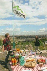 Picknick-Tafel im Tagebau