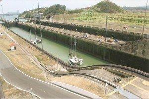 Besucherzentrum an der Miraflores-Schleuse am Panama-Kanal