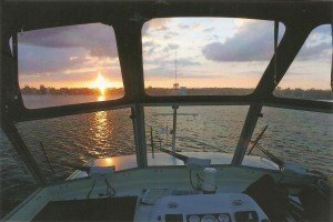 Sonnenuntergang am Dämeritz-See