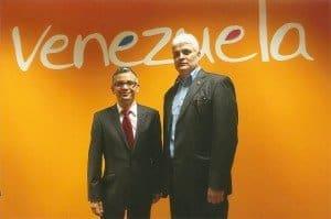 Botschafter Rodrigo Oswaldo Chaves Samudo (r.) und Tourismusbürochef Dr. Carlos Davila Foto: H.-P. Gaul