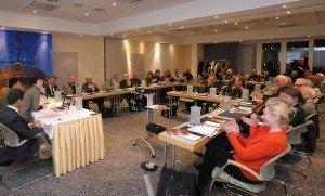 Medientreff im ABACUS Tierpark-Hotel: CTOURisten und Gäste, darunter Dr. Tomas Jelinek (wiss. Leiter des CRM Düsseldorf)