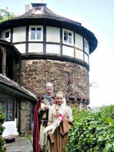Rapunzel und Ritter Dietrich auf der Trendelburg im Reinhardswald