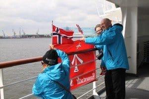 Norwegisches Begrüßungskomitee mit Nicola Merten