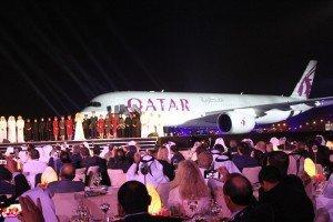 Historischer Moment: Bühne frei für den neuen Airbus Foto: Hans-Peter Gaul