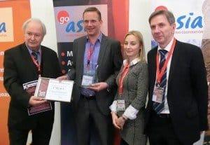Gewinner:  Geoplan Touristik GmbH mit Geschäftsführer Tobias Büttner (2.v.l.)  Foto: R. Friedrich