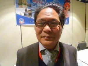 Dil Gurung, der Vertreter des Fremdenverkehrsamtes von Nepal in Berlin Foto: H. Schmidt