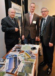Stephan Dehe, Leiter des Sekretariats Tourismusausschuß im Deutschen Bundestag, Geschäftsführer Frank Grafenstein und CTOUR-Vorstandssprecher Hans-Peter Gaul (v. r.)