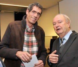 Hans-Peter Gaul mit VDRJ-Ehrenpräsident Jürgen Drensek (l.)
