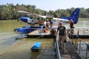 Am Landeplatz des Touristenorts Kandy im Landesinneren Foto: L. Schönfeld