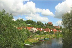Blick zum Dom in der Hansestadt Havelberg