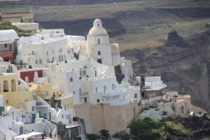 Die Vulkaninsel Santorin gehört zu den beliebtesten Kreuzfahrtzielen in der Ägäis