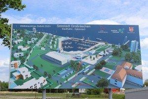 In Großräschen entstehen eine Marina, ein Stadthafen und maritimes Flair