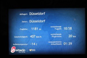... und das alles in 1000 Meter Flughöhe bei nur minus 14 Grad