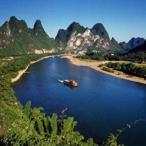 Guilin: Auf dem Fluss unterwegs