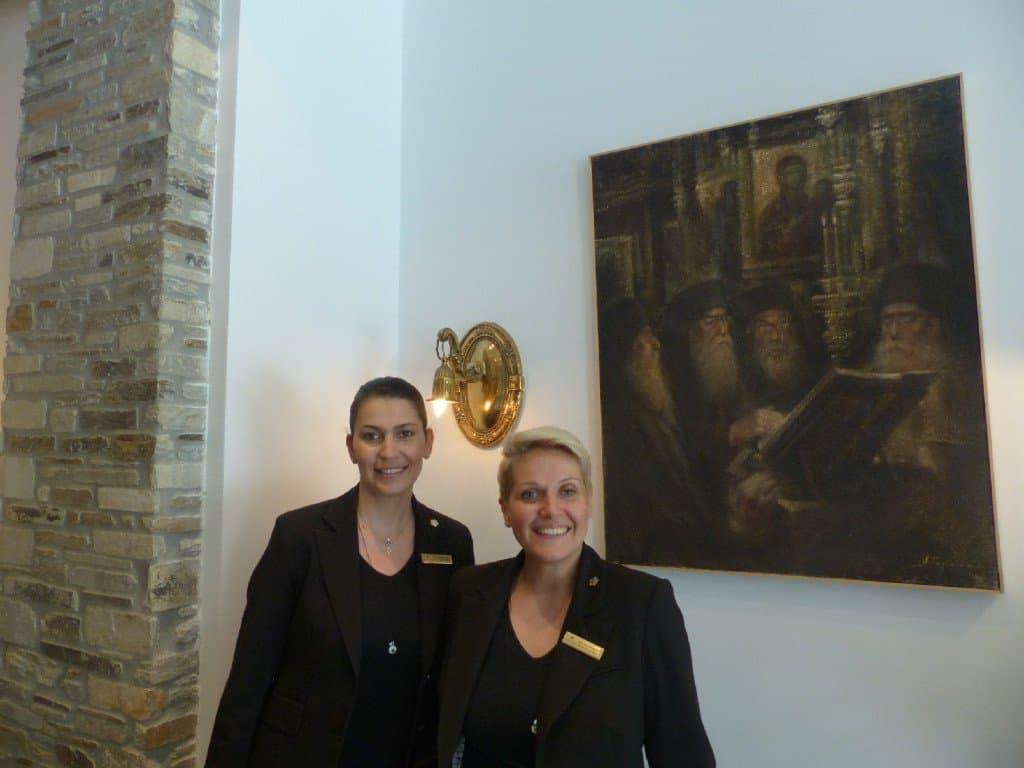 Olga (l.) und Nina